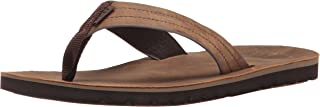 Reef Mens Sandal Voyage Le  | Premium Real Leather Flip Flops for Men With Soft Cushion Footbed | Waterproof