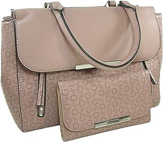 844aa7573f New Guess G Logo Purse Satchel Hand Bag Crossbody & Wallet Set 2 Piece Pink