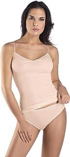 Hanro Women's Cotton Seamless V-Neck Camisole