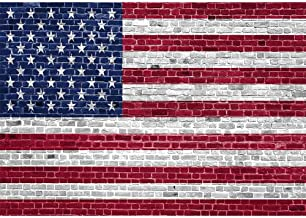 Allenjoy 7x5ft Independence Day Brick Wall American Flag Photography Backdrop Patriotic 4th of July Banner Memorial US Flag National Veterans Day Background Portrait Photo Studio Booth