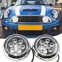 Chrome Finish LED Rally Driving Daytime Running Lights W/Halo Ring DRL Lights Mini Rally Driving Fog Light For Mini Cooper R55 R56 R57 R58 R60 R61