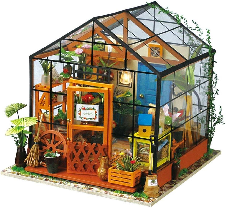 A la venta con descuento del 70%. CYX 40k Mini Kit de casa de de de Juguete de Madera para Niños - Mini jardín - Rompecabezas 3D - Flash Light Juguete - Hogar DIY para Niño niña Regalo Cubierta  calidad auténtica