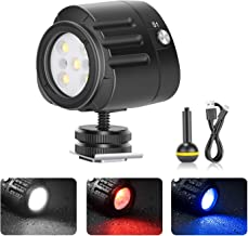 Neewer Underwater Lights Dive Light High Power Fill-in Light 130 Feet Waterproof LED Video Light with 5 Modes Compatible with Yuneec Drones DJI Osmo Pocket Osmo Action GoPro 7/6/5 Canon Nikon DSLRs