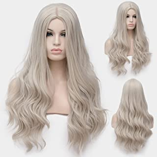 Similar Cosplay Long Wavy Full Synthetic Wigs Fluffy Hair Wig with Cap Halloween Gift,13,28inches