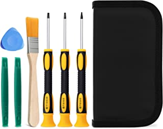 Fosmon Game Controller 7 Pieces Tool Repair Kit, T6 T8 T10 Screwdriver Set for Xbox 360, Xbox One Controller and Console, PS3, and PS4 Console