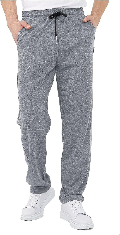 YUNDAN Men's Casual Pants Cotton Linen Soft Lightweight Sweatpants Elastic Waist Drawstring Yoga Beach Trousers with Pockets