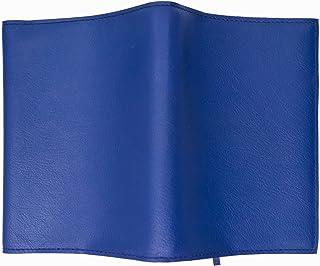 ノットカバー/手帳カバー A6判 152*105*30mmまでのノットや手帳に適用 栞付き、カード/栞収納口付き 紺色 擬革製品 文庫本のブックカバーとしても良い