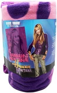 blanket Disney's Hannah Montana Pop Star Silhouette Pink/Violet Fleece