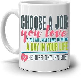 Registered Dental Hygienist Coffee Mug, a Cool, Unique Gift for Dental Students and Graduates - 100% Microwave and Dishwasher Safe