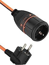 Electraline 01731 3G1.5 Elektrische verlengkabel met elektrock-stekker, uitgerust met vergrendelingsmechanisme, dat voorko...