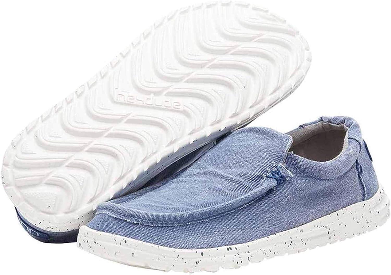 Dude shoes Hey Men's Mikka Washed Indigo