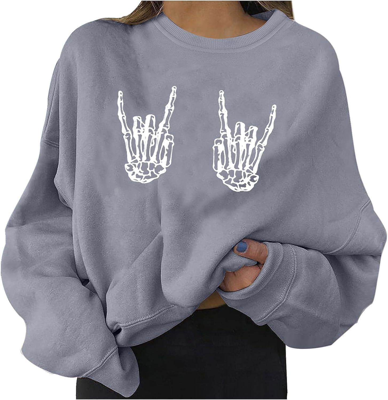 Max 50% OFF Fashion unisex Women's Halloween Printed Sweatshirts Loose Sleeve Long
