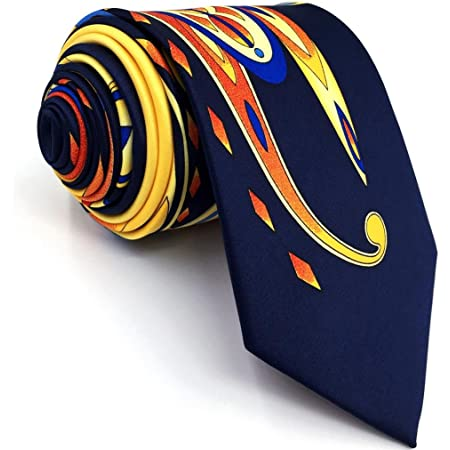 Shlax&Wing Mens Neckties Ties Printed Geometric Multicolo Silk New