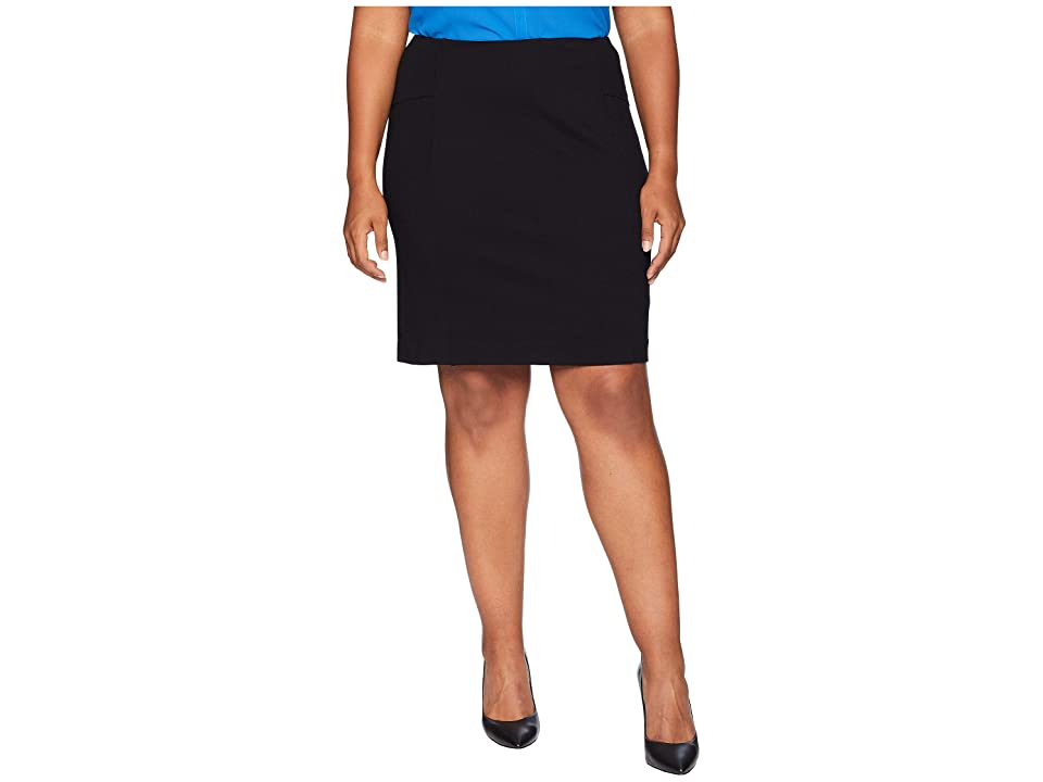 Lysse Plus Size Perfect Skirt (Black) Women