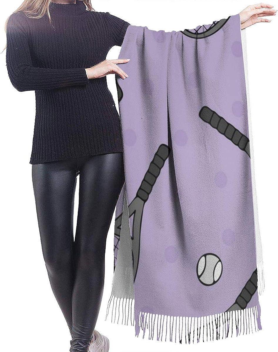 Tennis Pattern Cashmere Shawl Wrap Scarf Large Warm Scarf For Women