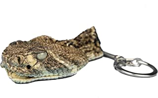 Real Rattlesnake Head Keychain : Closed Mouth (42-30C)