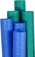 Pool Mate Premium Extra-Large Swimming Pool Noodles, Blue and Teal 6-Pack