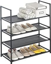 WOLTU 4 Tier Shoe Rack, Premium Stand Standing Shoes Storage Organizer