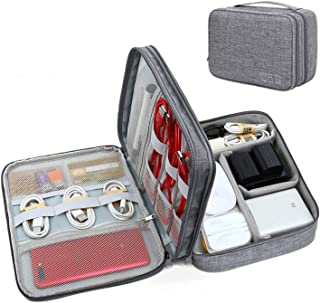 YOUBAMI Electronic Organizer Travel Universal Cable Organizer Storage Bag, Three Layer Polyester Waterproof Trave Accessor...