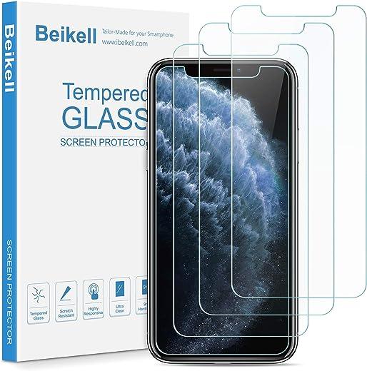 Beikell [4 Stück] Panzerglas Displayschutzfolie für iPhone XS/X, Premium Panzerglasfolie mit 9H Härte, HD, Kratzfest, Blasenfrei