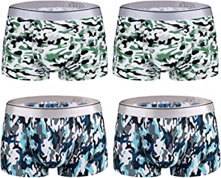 ZLY Mens Underwear Boxer Briefs Super Soft Modal Low Rise Trunks 7-Pack
