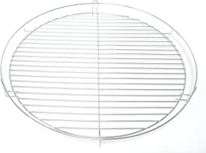40 cm Grillgitter flach rund verchromt Grillrost Ersatz Gitter Kugelgrill Grill