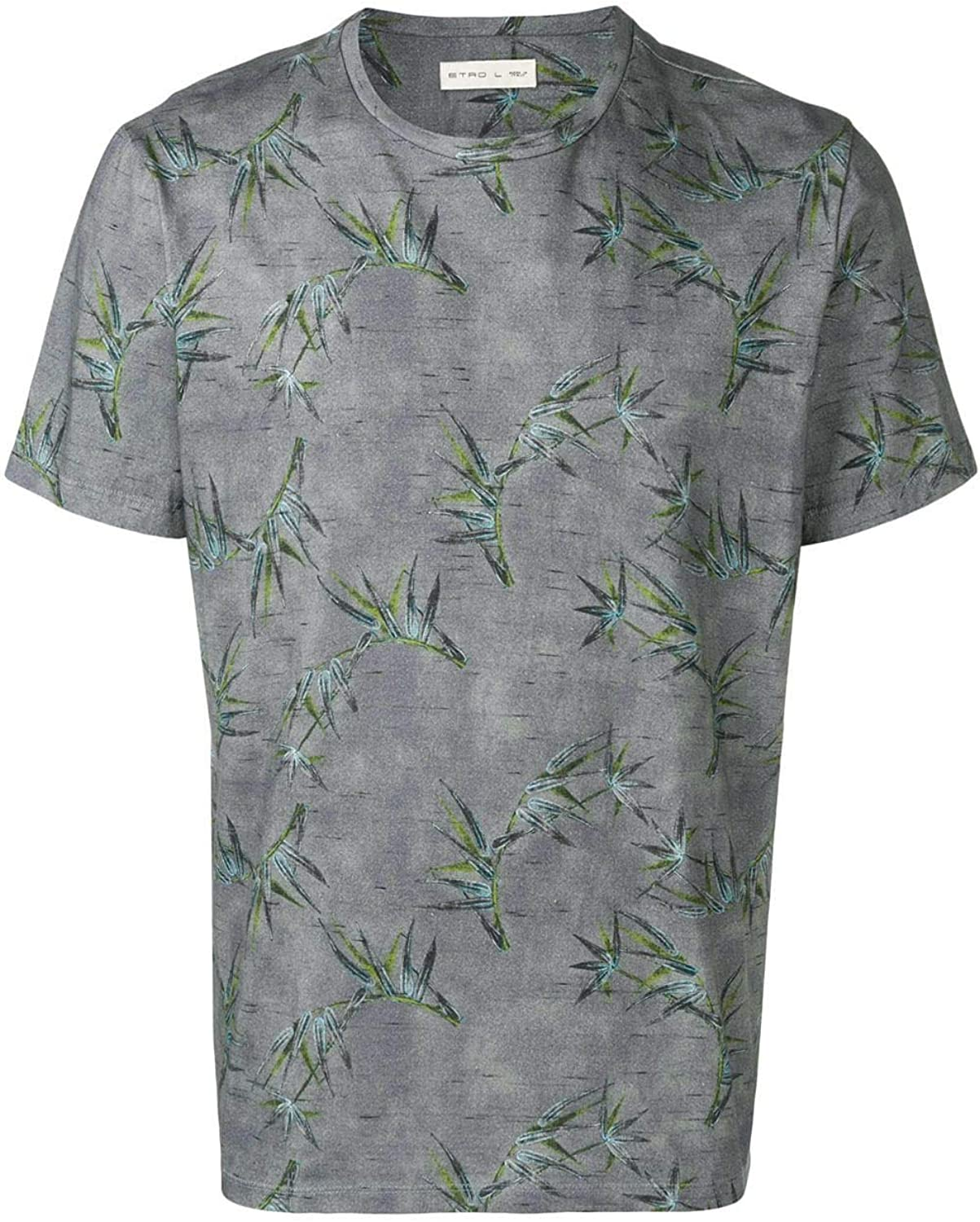 ETRO Men's 1Y0204085003 Grey Cotton TShirt