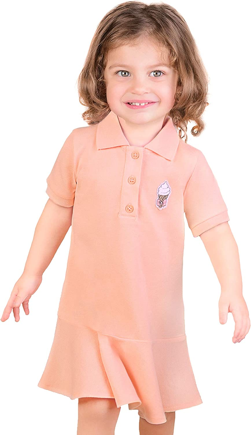 Lilax Girls Short Sleeve Casual Dress Casual Summer for Toddlers