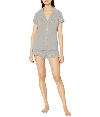 Eberjey Gisele Basics Short PJ Set (Heather Grey/Sorbet Pink) Women