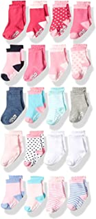 Little Me Infant Socks & Baby Girl Socks, 20 Pairs, 0-12/12-24 Months, Assorted