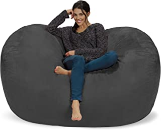 Chill Sack Bean Bag Chair: Huge 6' Memory Foam Furniture Bag and Large Lounger - Big Sofa with Soft Micro Fiber Cover - Charcoal