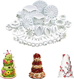 33 Pcs Fondant Cake Cookie Plunger Cutter Sugarcraft Flower Leaf Butterfly Heart Shape Decorating Mold DIY Tools