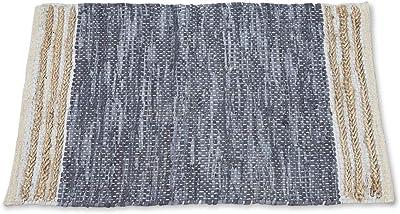 Boho Traders Sumak Handloom Area Rug Leather Jute Sumak Handloom Area Rug, Darkgrey