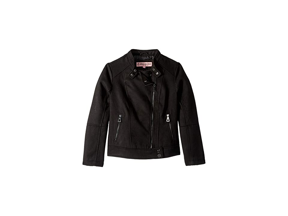 Urban Republic Kids Emilia Wool Moto Jacket (Little Kids/Big Kids) (Black) Girl
