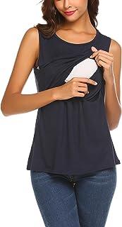 dd4880274bb70 UNibelle Débardeur Maternité Allaitement Femmes Enceintes Habits Haut  Grossesse Simple T-Shirt S-XXL