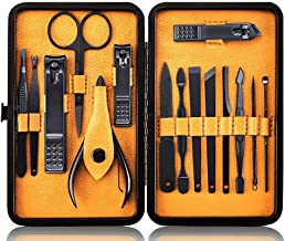 Keiby Citom Professional Stainless Steel Nail Clipper Travel & Grooming Kit Nail Tools Manicure & Pedicure Set of 15pcs wi...