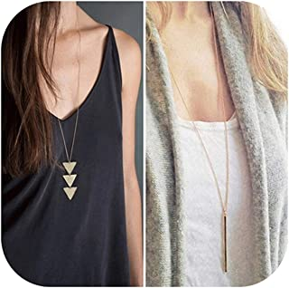 Best long gold fashion necklace Reviews