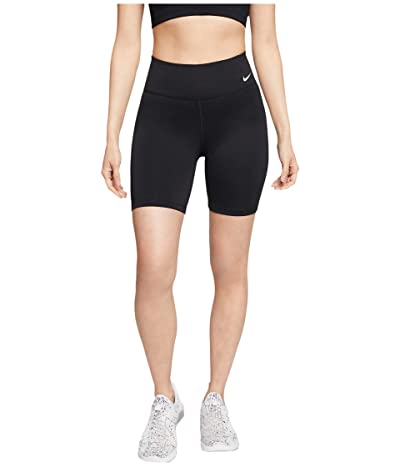 Nike One 7 Shorts (Black/White) Women