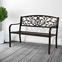 Garden Bench Seat Outdoor Furniture Cast Iron Patio Benches Seats Lounge Chair