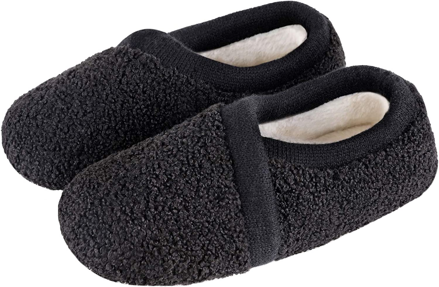 Women's Elastic Ranking TOP17 Fleece San Diego Mall House Shoes with Slippers Comfy Fuzzy Mem