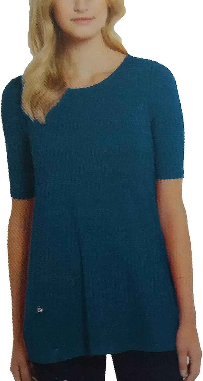 Ellen Tracy Ladies' Shirt Open Neck. color Poseidon. Size  Small.