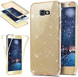 Qjuegad Compatible avec Samsung Galaxy A3 2016 Coque Transparent Silicone TPU Souple Bumper Case Cover de Protection,Argent