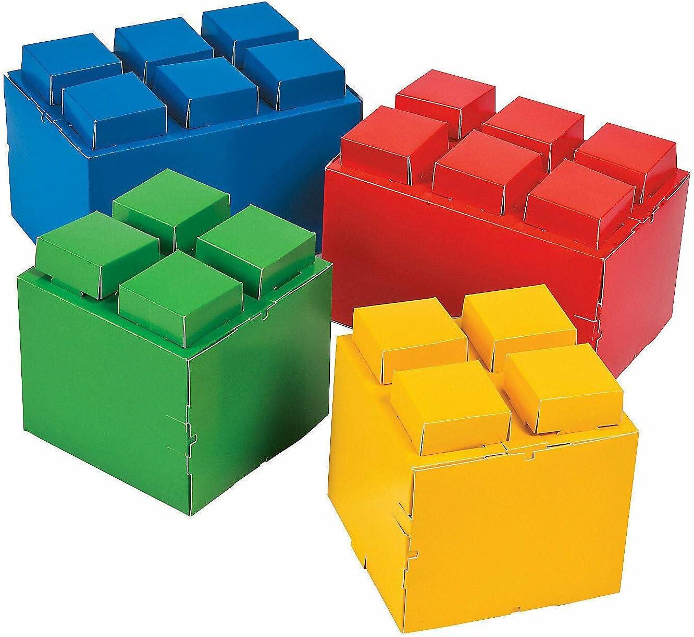 Color Brick Party High specialty shop quality new Centerpieces - 4 Desk Dec Decor Pieces