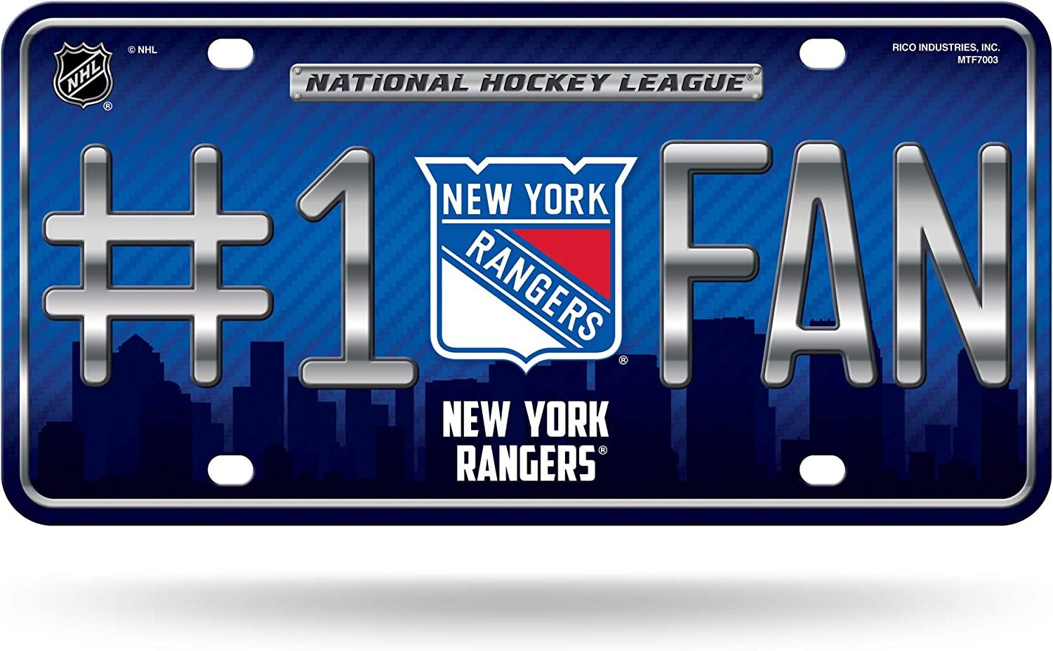NHL #1 Fan Super Special SALE held Metal License Max 45% OFF Plate Tag