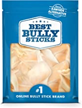 Best Bully Sticks Prime Thick-Cut Cow Ear Dog Chews (12 Pack) Sourced from All Natural, Free Range Grass Fed Cattle with N...