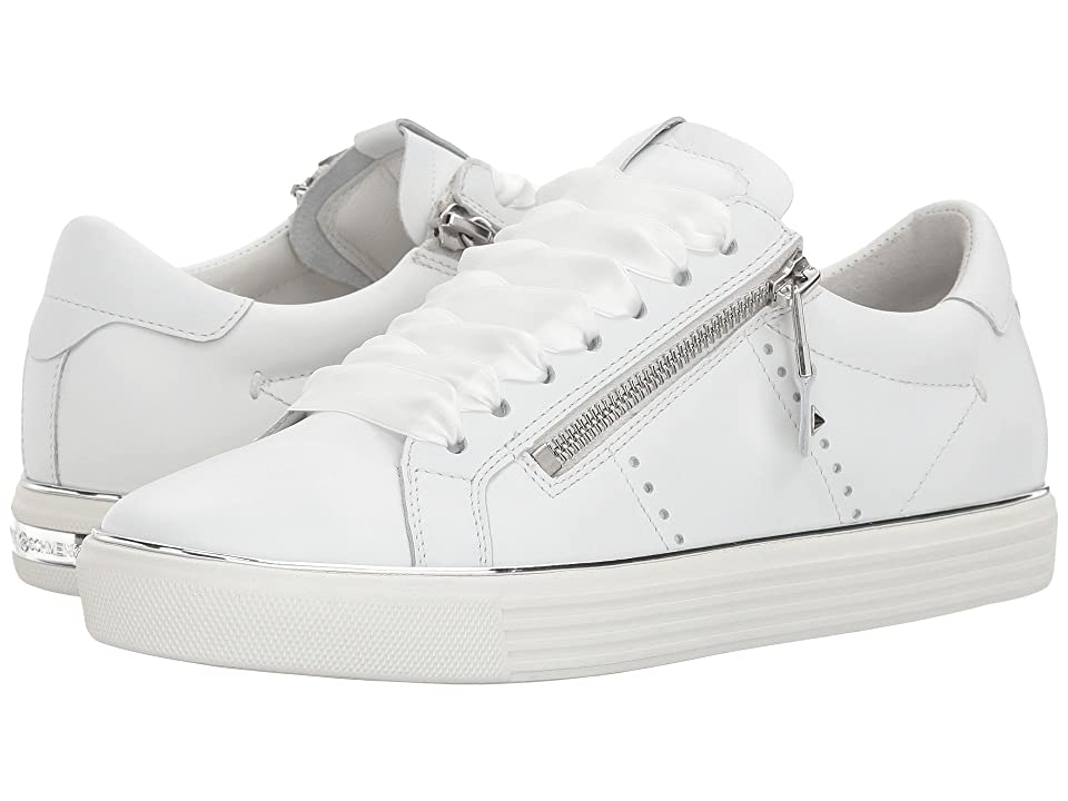 Kennel & Schmenger Town Satin Lace Sneaker (White Calf) Women