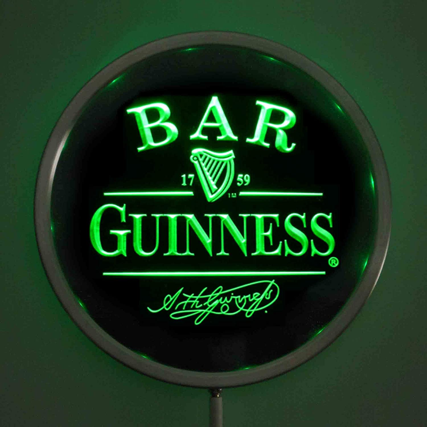 ZFRANC Guinness Signature Bar 10 Inches Man Round Free Shipping Cheap Bargain Gift Neon Sign We OFFer at cheap prices LED