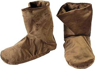 Mars Wellness Heated Microwaveable Foot Booties - Herbal Hot/Cold Deep Penetrating Herbal Aromatherapy Wrap Warmer - Espresso