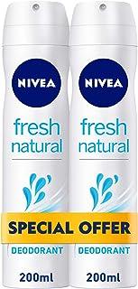 NIVEA, Deodorant Female, Fresh Natural, Spray, 200ml x 2