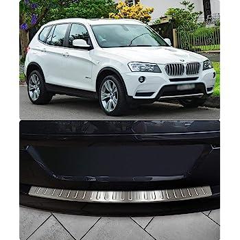Chromeline 2017 in Acciaio Inox Spazzolato Protezione paraurti Posteriore per BMW X3 F25 2010